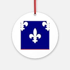 Acadiana Flag Louisiana Ornament (Round)