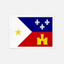 Acadiana Flag Louisiana 5'x7'Area Rug