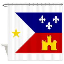 Acadiana Flag Louisiana Shower Curtain