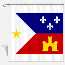 Acadiana Flag Louisiana Shower Curtain