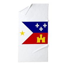 Acadiana Flag Louisiana Beach Towel