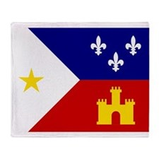 Acadiana Flag Louisiana Throw Blanket
