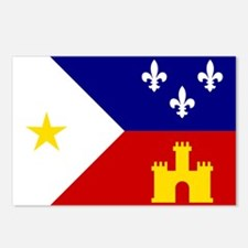 Acadiana Flag Louisiana Postcards (Package of 8)