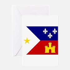 Acadiana Flag Louisiana Greeting Cards