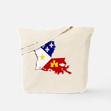 Acadiana State of Louisiana Tote Bag