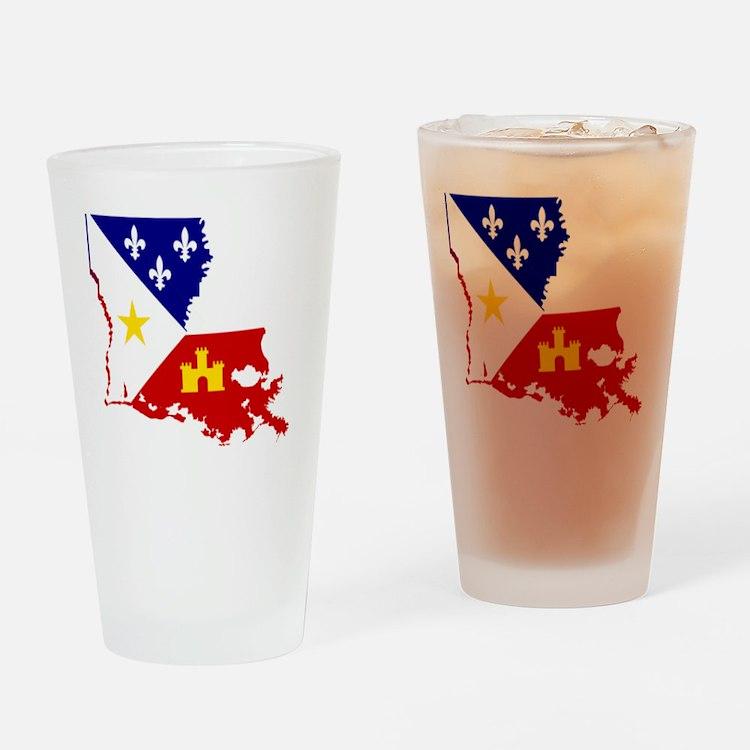 Acadiana State of Louisiana Drinking Glass