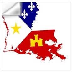 Acadiana State of Louisiana Wall Decal