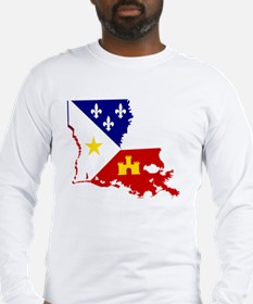 Acadiana State of Louisiana Long Sleeve T-Shirt