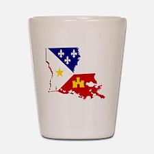 Acadiana State of Louisiana Shot Glass