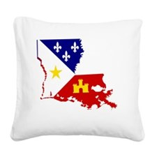 Acadiana State of Louisiana Square Canvas Pillow