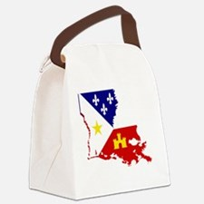 Acadiana State of Louisiana Canvas Lunch Bag