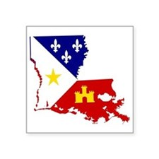 Acadiana State of Louisiana Sticker