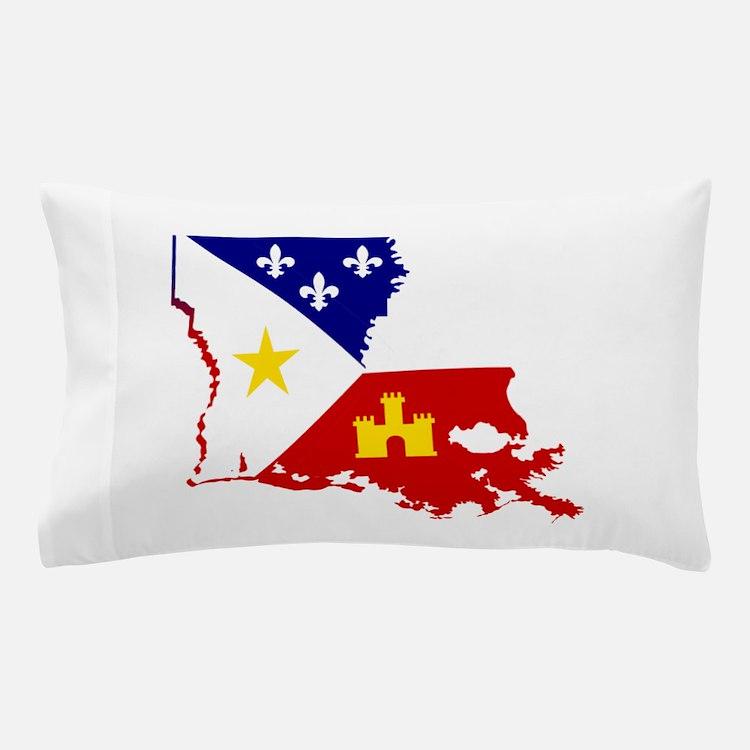 Acadiana State of Louisiana Pillow Case