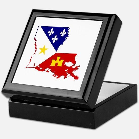 Acadiana State of Louisiana Keepsake Box