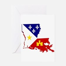 Acadiana State of Louisiana Greeting Cards