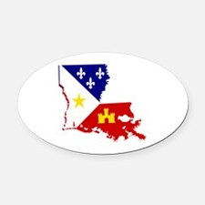 Acadiana State of Louisiana Oval Car Magnet