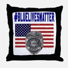 Cool Police family Throw Pillow