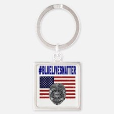 Funny American police Square Keychain