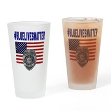 Cool Police support Drinking Glass