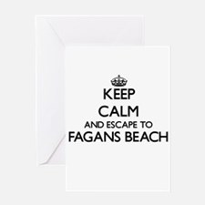 Keep calm and escape to Fagans Beac Greeting Cards