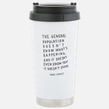 Noam Chomsky quote Travel Mug