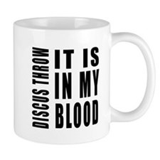 Discus throw it is in my blood Mug