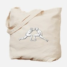 Fencing - 2 Fencers - Silhouette- White Tote Bag