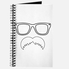 Chevron Mustache Face Journal
