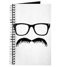 Broom Mustache Face Journal