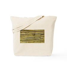 Yellow Bamboo Pattern Tote Bag
