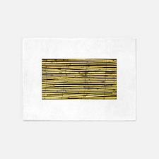 Yellow Bamboo Pattern 5'x7'Area Rug