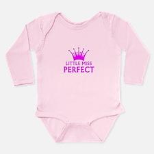 Little Miss Perfect Long Sleeve Infant Bodysuit