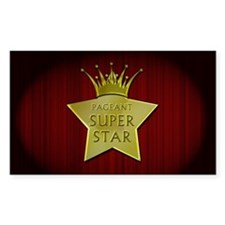 Pageant Super Star Sticker (rectangle)