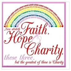 Rainbow Girls - Faith Hope Charity Poster