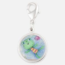 Cartoon Frog and Fish Charms