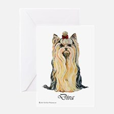 Yorkshire Terrier DRAMA QUEEN Greeting Card