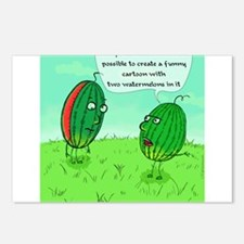 Two Watermelons Postcards (Package of 8)