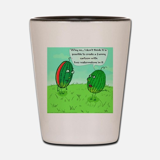 Two Watermelons Shot Glass