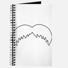 Chevron Mustache Journal