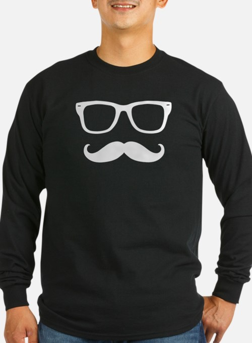 Mustache Face Long Sleeve T-Shirt