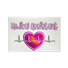 Cute Certified medical assistant Rectangle Magnet (10 pack)