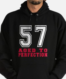 57 Aged To Perfection Birthday Desig Hoodie