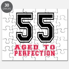 55 Aged To Perfection Birthday Designs Puzzle