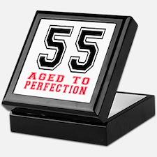 55 Aged To Perfection Birthday Design Keepsake Box