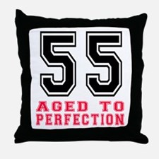 55 Aged To Perfection Birthday Design Throw Pillow