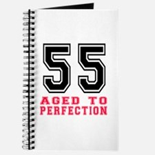 55 Aged To Perfection Birthday Designs Journal