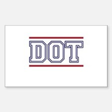 DOT Sticker (Rectangle)