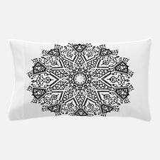Black and White Mandala Pillow Case