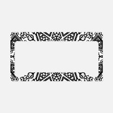 Black and White Mandala License Plate Holder