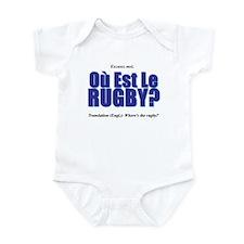 Où Est Le Rugby? World Cup 2007 Infant Bodysuit